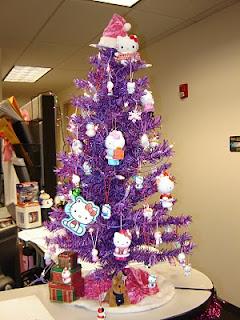 Hello Kitty purple Christmas tree