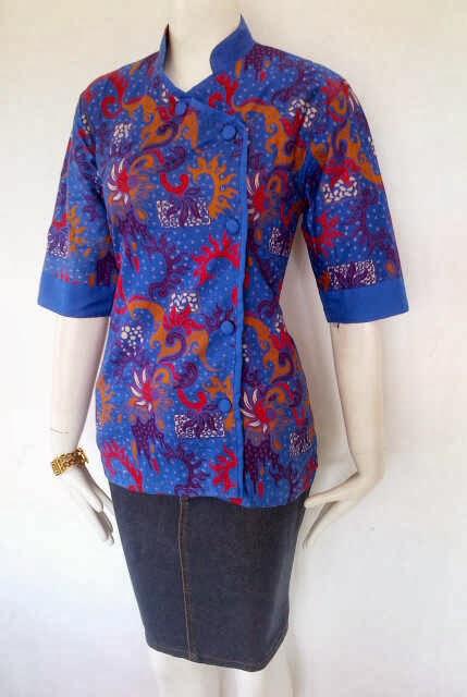 baju batik wanita moder, baju batik wanita atasan, serta baju batik