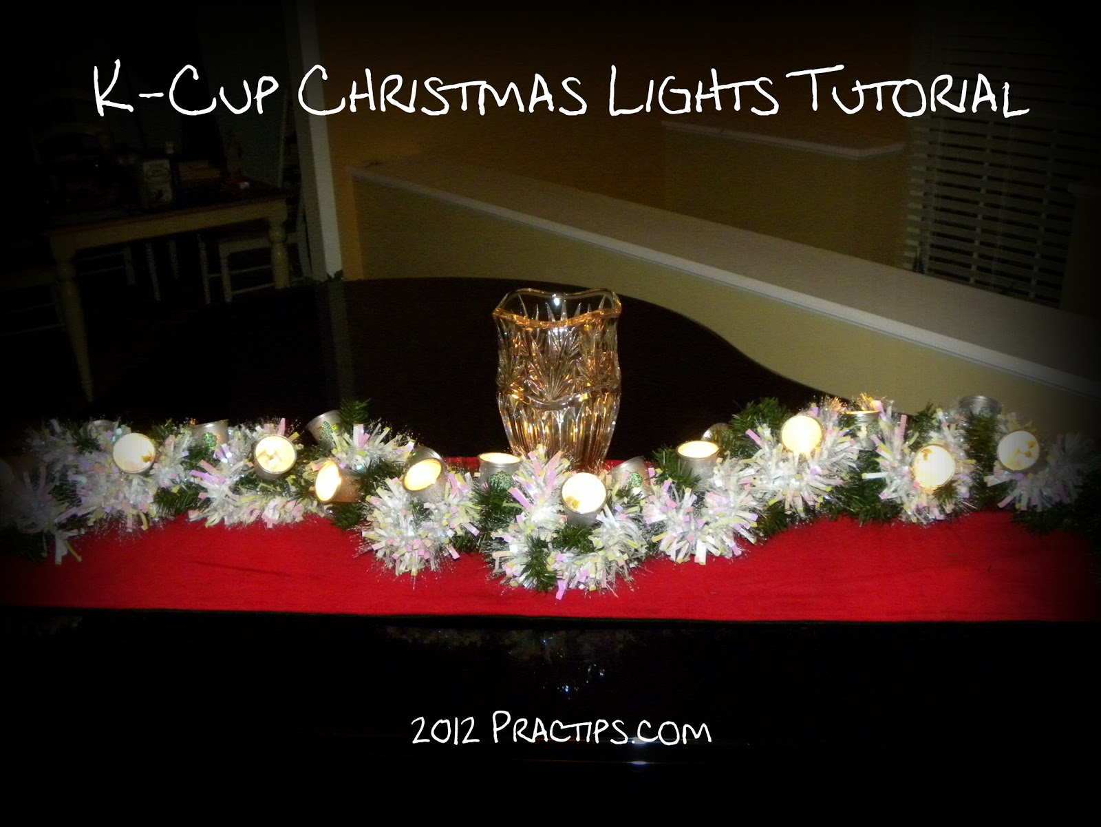 Practips: DIY: K-Cup Christmas Lights
