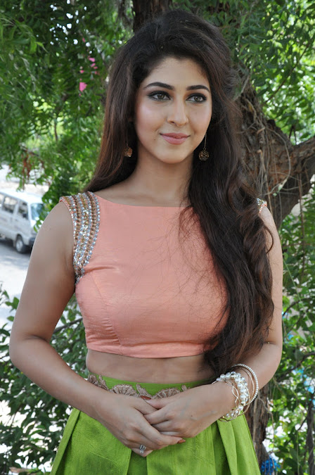 Sonarika looks lovely in a peach COlored Choli and Skirt Spicy Pics