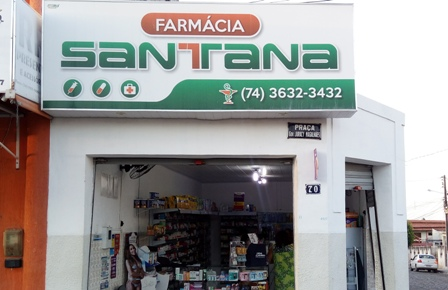 Farmácia Santana, em Mairi