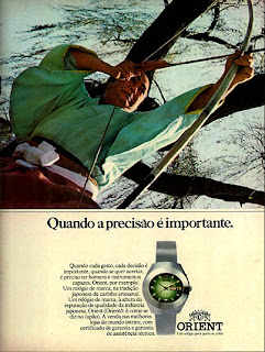 propaganda relógios Orient - 1974. anos 70.  1974. década de 70. os anos 70; propaganda na década de 70; Brazil in the 70s, história anos 70; Oswaldo Hernandez;