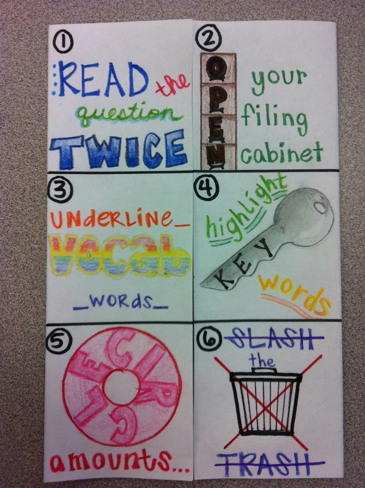 thesciencepirate: Test Taking Skills Foldable