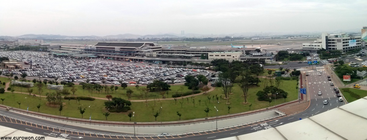 Vista panorámica desde el Aeropuerto Internacional de Gimpo