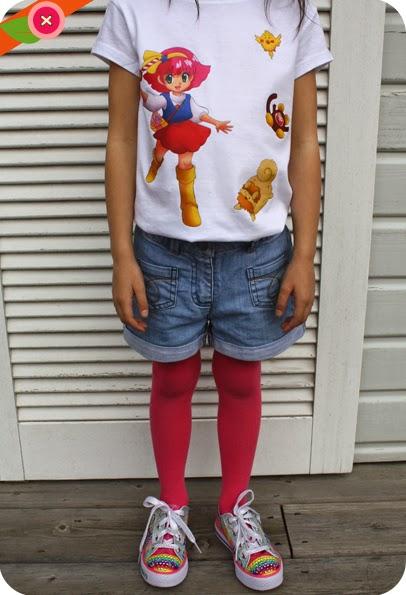 T-shirt customisé Gigi - Minky Momo avec du papier transfert