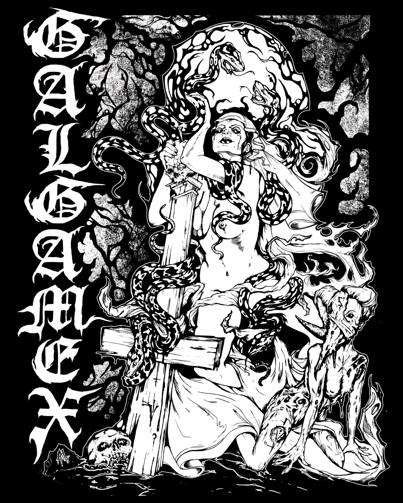 Shirt design vancouver - New T Shirt Design I Just Completed For Vancouver Death Metal Band Galgamex