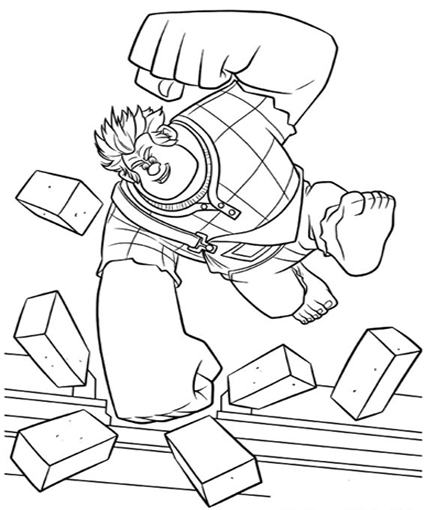 Wreck-It Ralph Coloring Pages title=