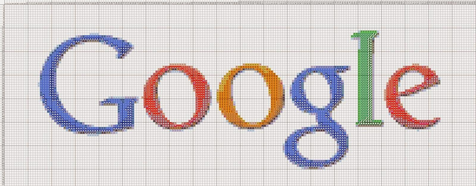 Gambar Pola Kristik Logo Google