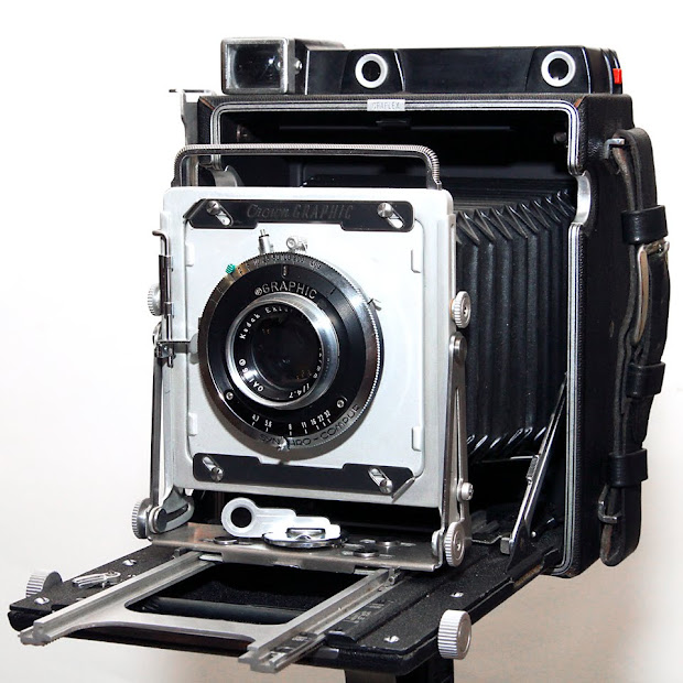 Graflex Crown Graphic large format camera