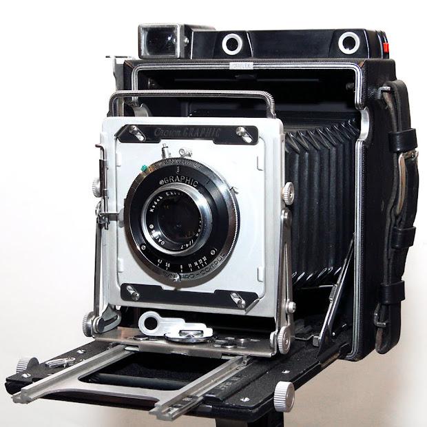 Graflex Crown Graphic large format camera