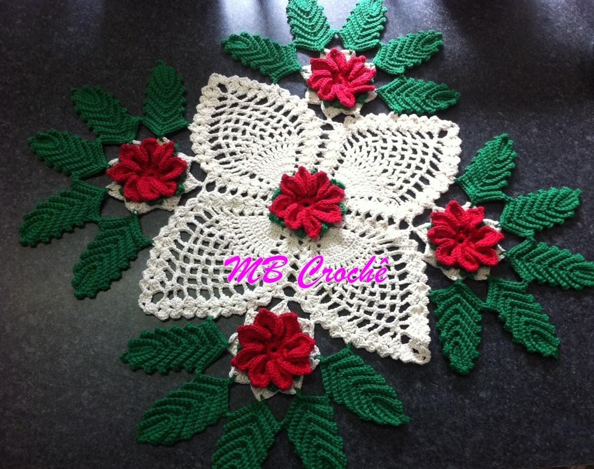 Patrones crochet manualidades y reciclado centro de mesa for Centro mesa navidad manualidades