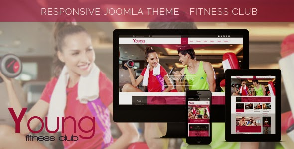 Young Fitness – Spa & Fitness Joomla Template j3x