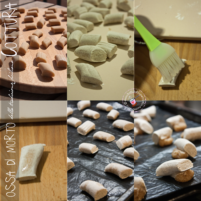 preparazione dei biscotti ossa di morto