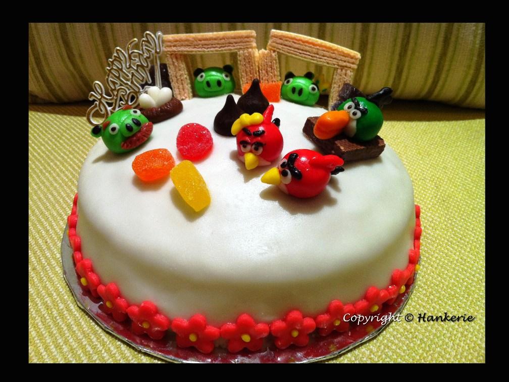 Angry Birds Seasons Female Red Bird Birthday Cake Hankerie