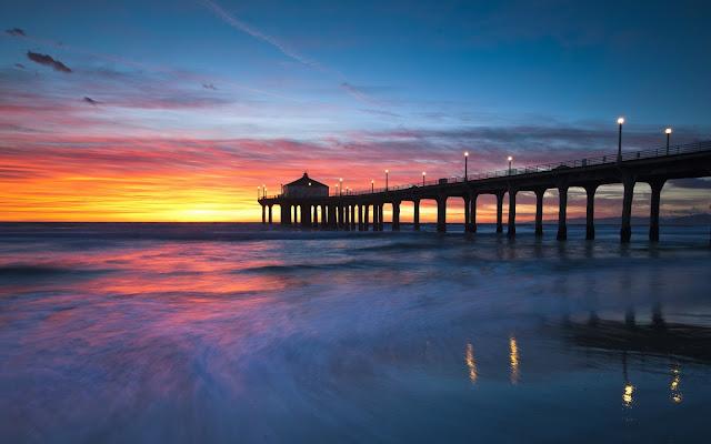 Manhathan Beach California Imagenes de Hermosos Paisajes HDR de Playas