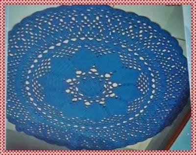 Tapete de Crochê Redondo em Barbante