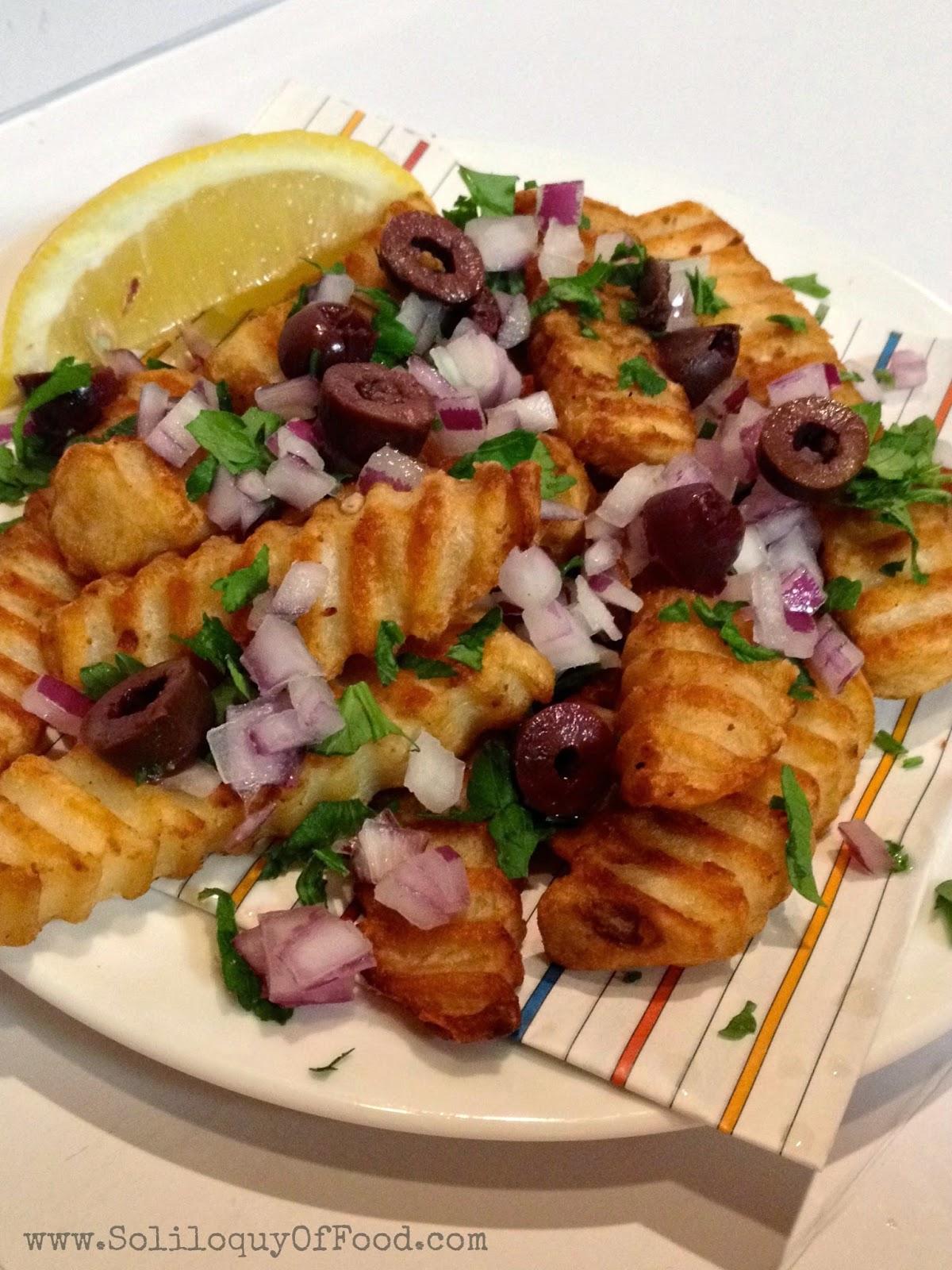 Greek Fries www.SoliloquyOfFood via LoveBakesGoodCakes.com