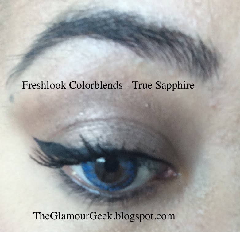 the glamour geek freshlook colorblends review for brown eyes