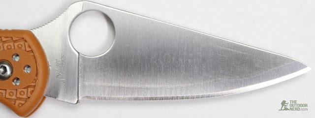 Spyderco HAP40 Delica EDC Pocket Knife - Blade 1