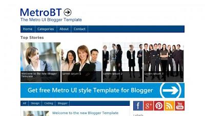 Metro UI of Windows 8 blogger template