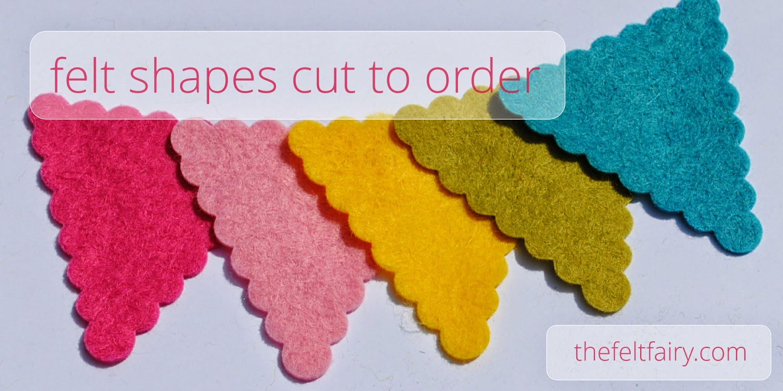 Felt Scalloped Bunting - Felt Shapes Cut to Order