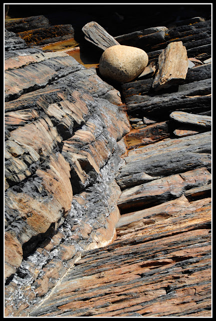 Nova Scotia; Gaff Point; Rocks
