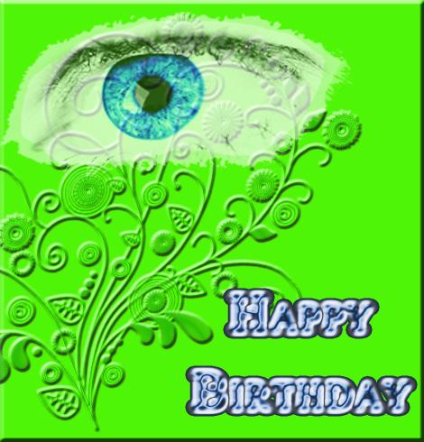 Birthday on green