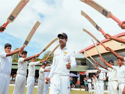 Great Batsman Sangakkara Guard of honor was presented