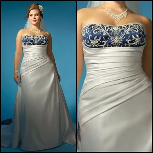 Plus size wedding dresses with color section two for Colored wedding dresses plus size