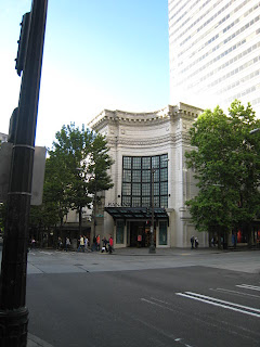 The former Coliseum Theater, now a Banana Republic store on 5th and Pike in Seattle