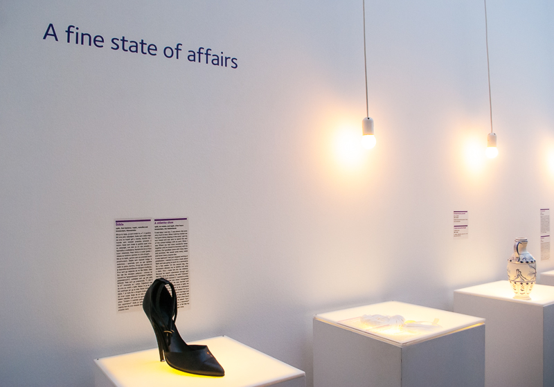 A fine state of affairs display in the Museum of broken relationship in Zagreb, croatia