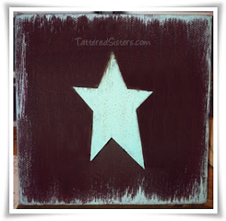 Primitive Tin Star Canvas