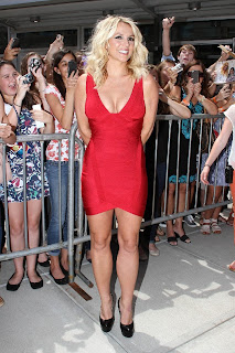 Britney Spears Busty In A Red Dress