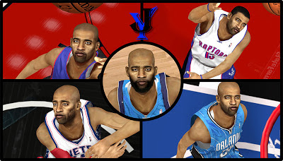 NBA 2K13 Vince Carter 5 Cyber Face Pack