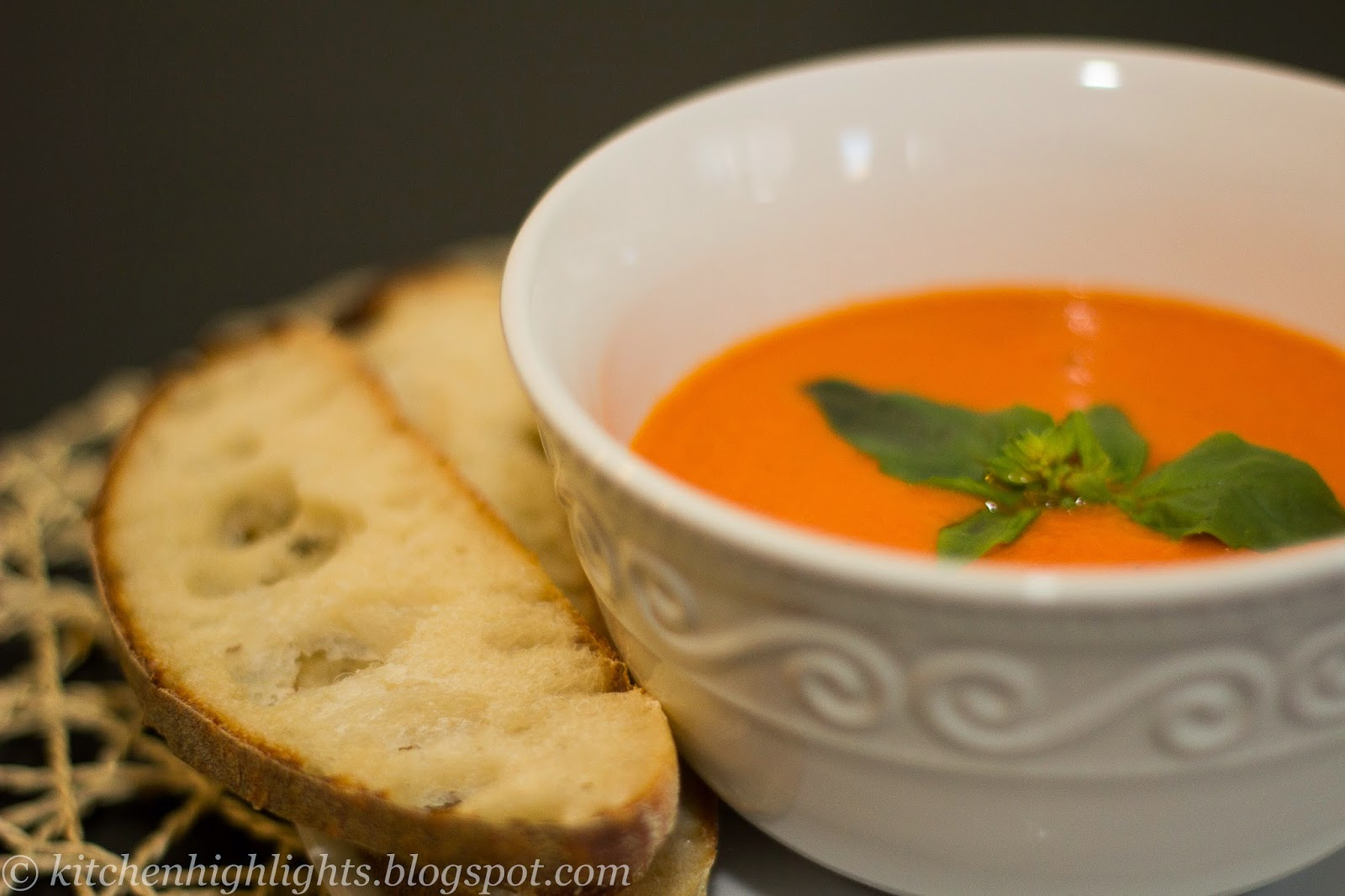 A simple but delicious homemade tomato soup is a wonderful spring time treat