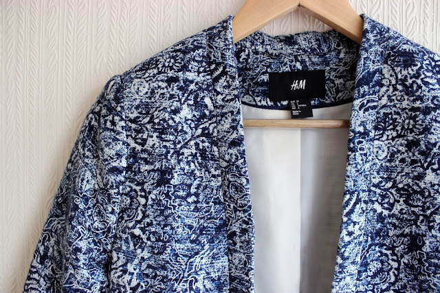 HM, blazer, print blazer, purchase, fashion
