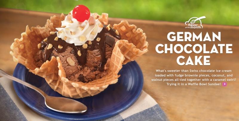 Baskin Robbins German Chocolate Cake Ice Cream