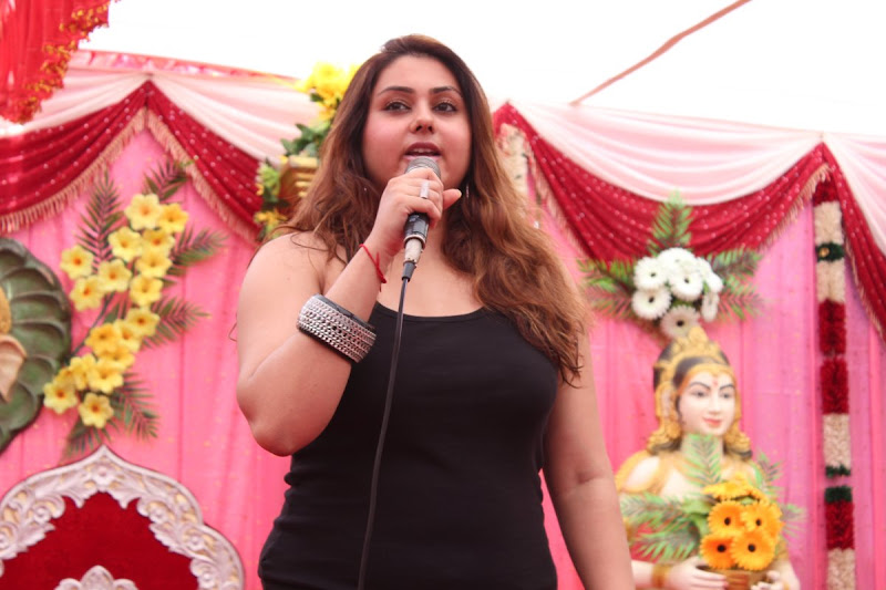 Namitha at JS Paradise Family Marriage Hall Launch Stills wallpapers