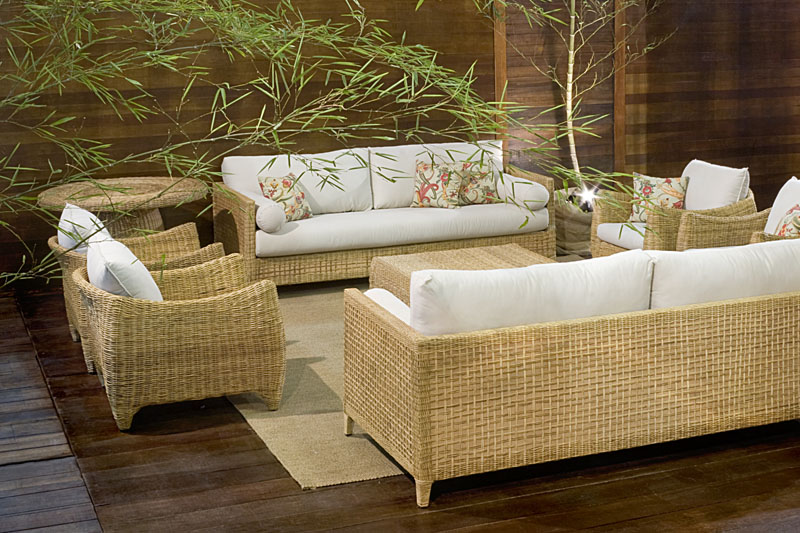 decoracao de interiores salas e quartos:Sítio Prosperidade: Sofás de Bambus