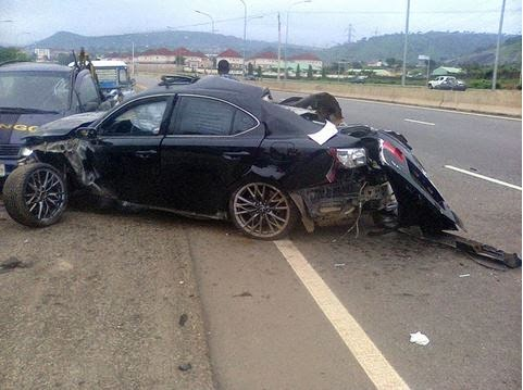 Car accident scene that killed El-rufai's son Hamza