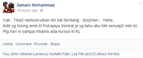 Buat Kejutan Pulang Ke Kuala Lumpur