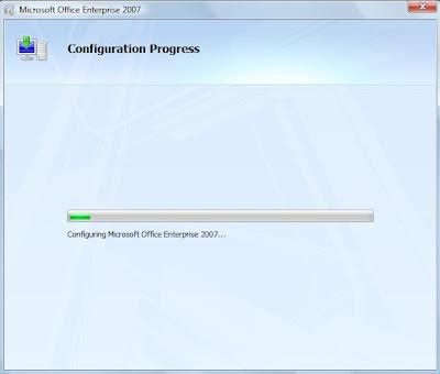 Microsoft Office 2007 Configuration Progress