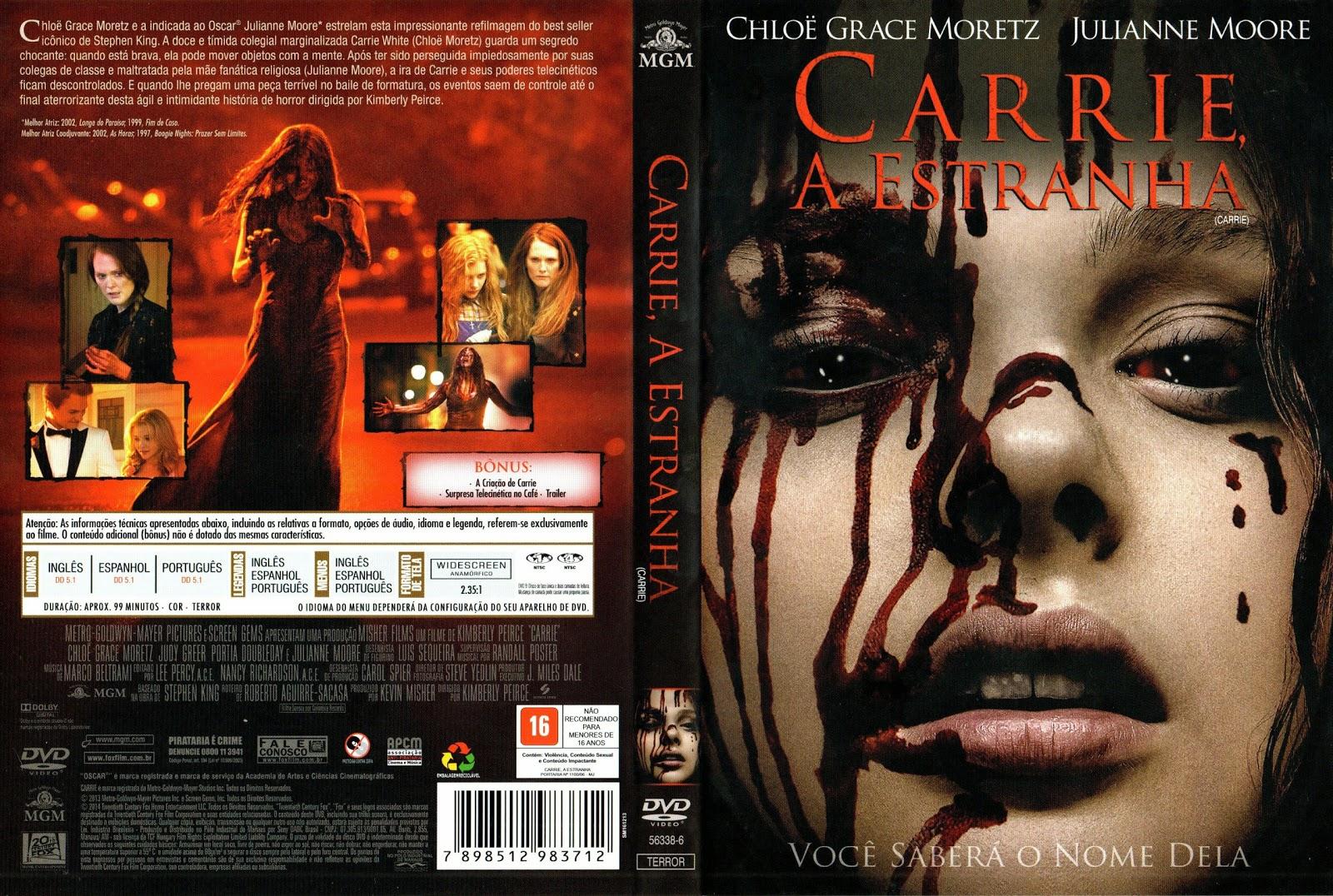 Capa DVD Carrie A Estranha