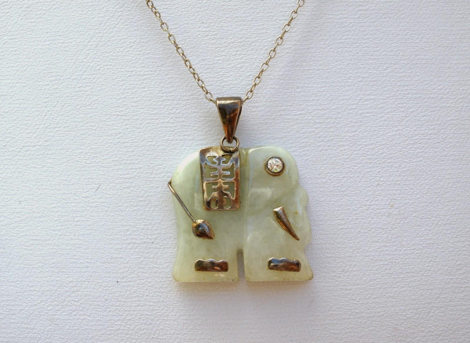 The jewelry ladys store jade elephant pendant necklace avon avon jade elephant necklace found here aloadofball Gallery