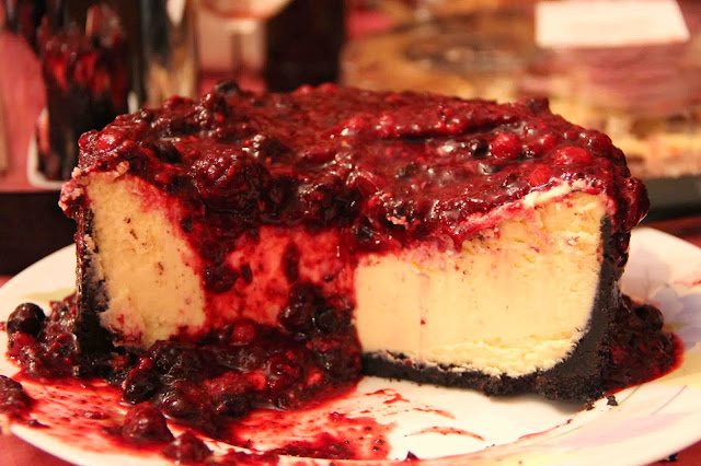 Cheesecake chocolat blanc et fruits rouges