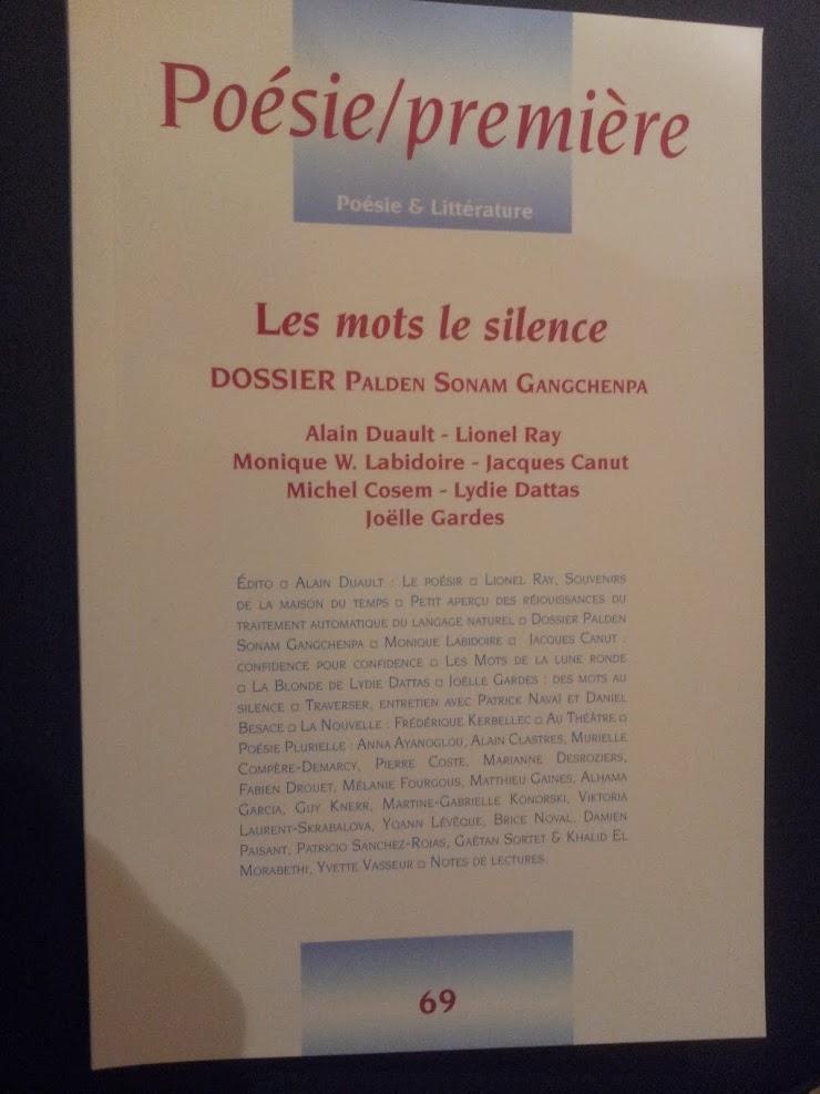 Revue Poésie/première  - France, 2018.-