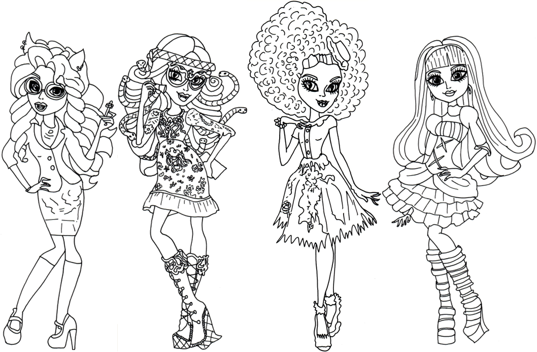 Free Printable Monster High Coloring Pages: Monster High Coloring ...