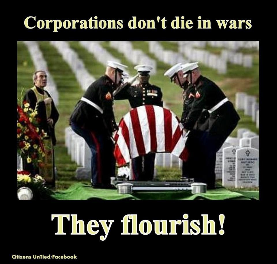 Corporations don't die in wars