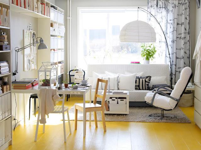 16 Living Room Kece dengan Aksen Warna Kuning