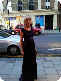 liberty gown, maternity evening wear, tiffany rose